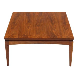 Mid-Century Modern Square Walnut Coffee Table For Sale