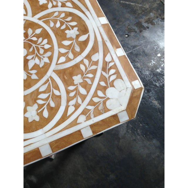 Pair of Bone Inlay Side Tables For Sale - Image 7 of 8