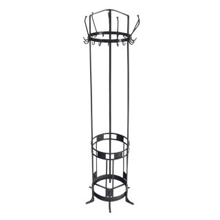 Wrought Iron Coat Rack Umbrella Stand For Sale