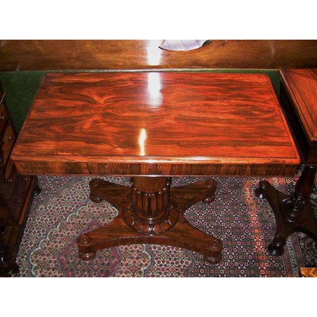 Gillows of Lancaster & London 19th Century British William IV Telescopic Side Table in the Manner of Gillow's For Sale - Image 4 of 12