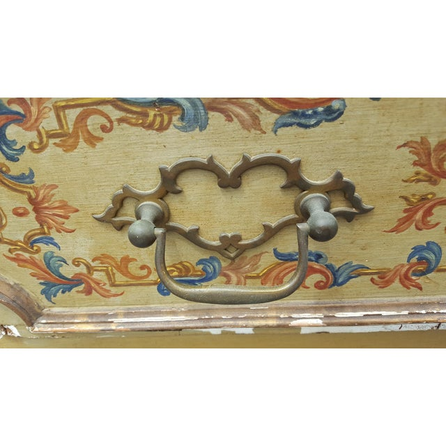 French Distressed Painted Secretary Desk - Image 10 of 11
