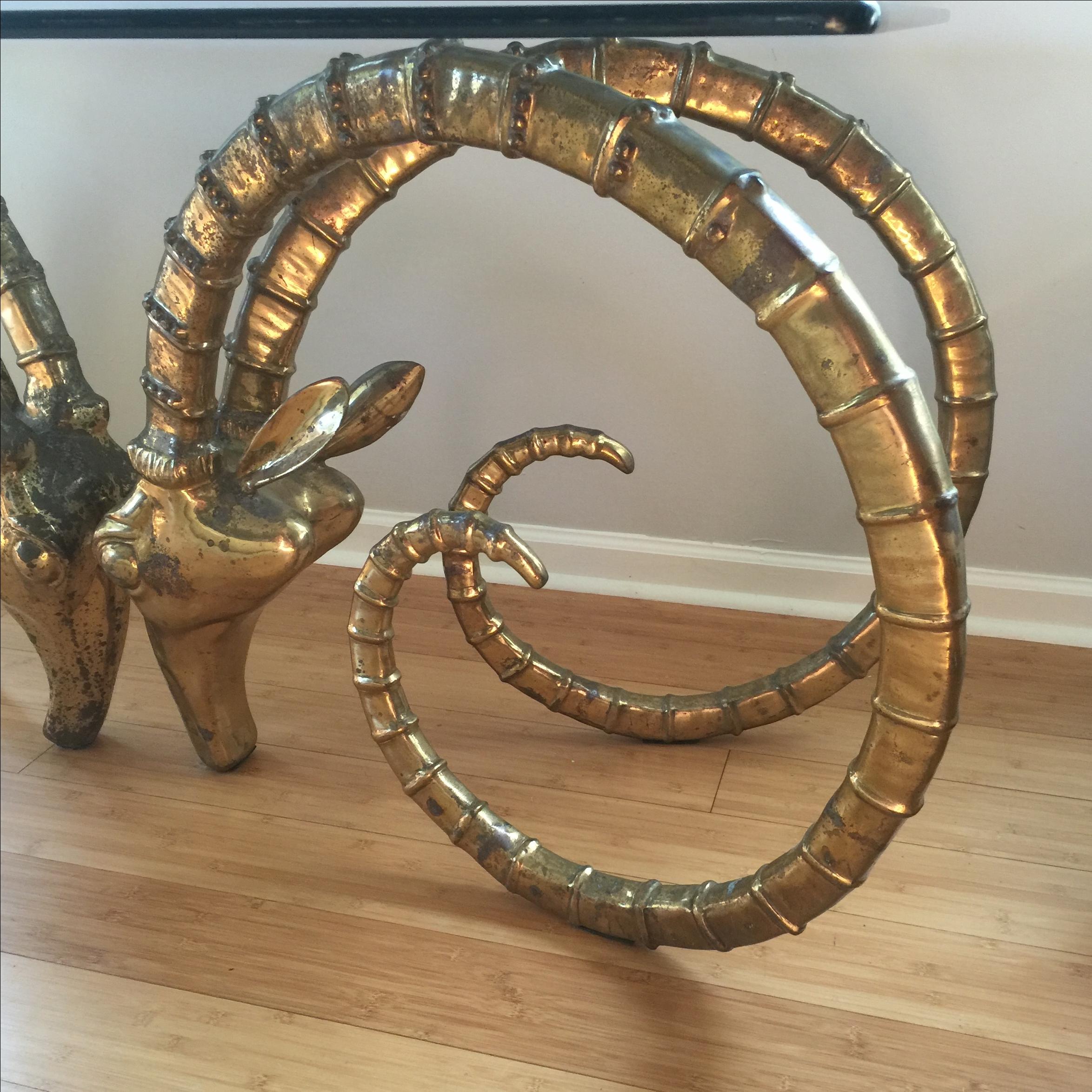 Charmant Ibex Rams Head Table, Mid Century Design   Image 4 Of 8