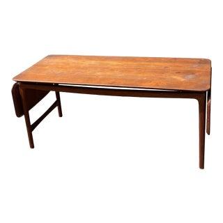 1960s Peter Hvidt and Orla Mølgaard-Nielsen Drop Leaf Coffee Table For Sale