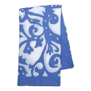 Rumana Applique Tablecloth, 8-seat table - Periwinkle For Sale
