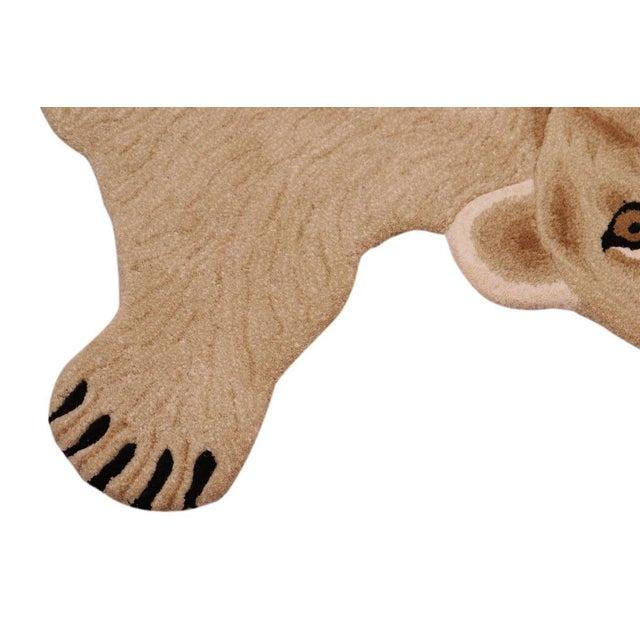 Boho Chic Lioness Shaped Animal Design Area Rug For Sale - Image 4 of 12