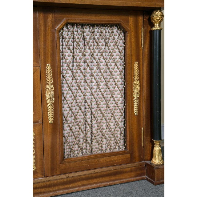 Brown Palatial Empire-Style Sideboard For Sale - Image 8 of 11