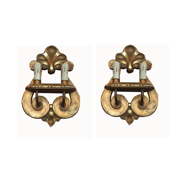 Italian Gilt Sconce, C.1950 - a Pair For Sale - Image 11 of 11