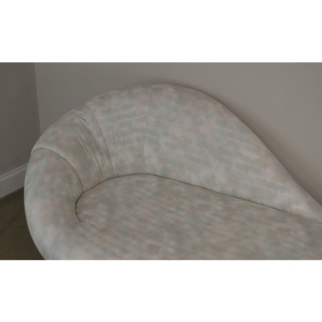 Carsons Inc. Post Modern Upholstered Chaise Lounge For Sale - Image 12 of 13