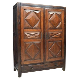 French Louis XIII Style Provincial Walnut Armoire For Sale