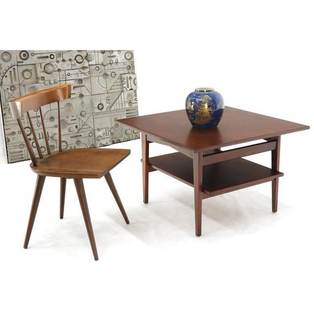 Jens Risom Jens Risom Square Occasional Coffee Side Table Oiled Walnut For Sale - Image 4 of 12