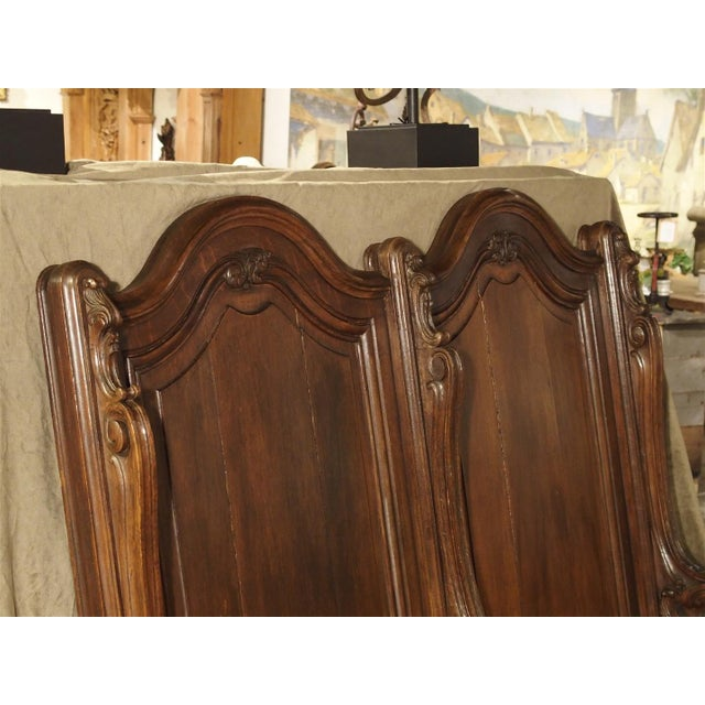This European oak church stall came from a private chapel of a chateau in Liege, Belgium. This double stall would have...