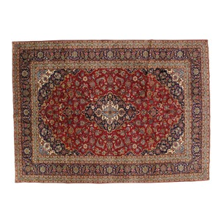 "Leon Banilivi Persian Kashan Carpet - 8'2"" X 11'2"" For Sale"