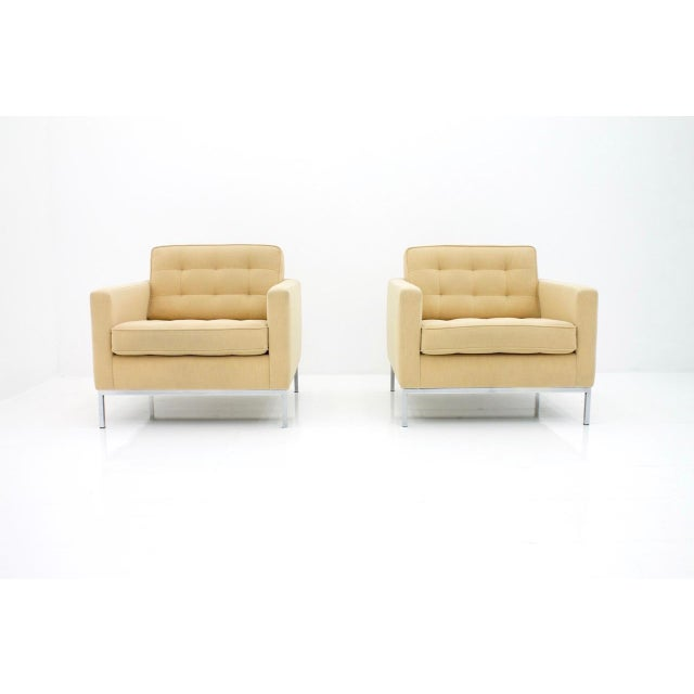 Tan Florence Knoll Lounge Chairs for Knoll International For Sale - Image 8 of 10