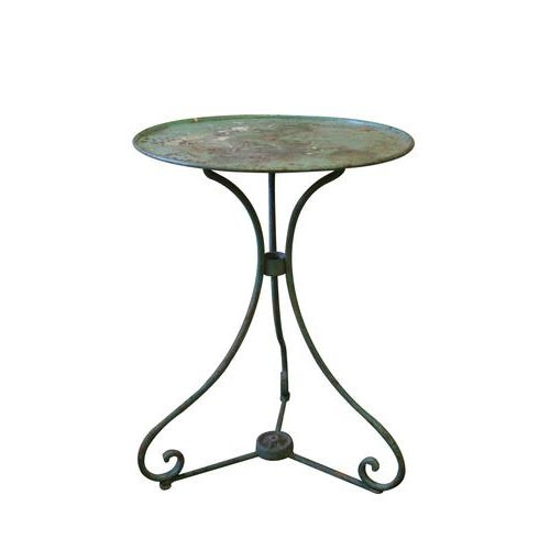 French Metal Garden Furniture French green metal garden table chairish french green metal garden table image 5 of 5 workwithnaturefo