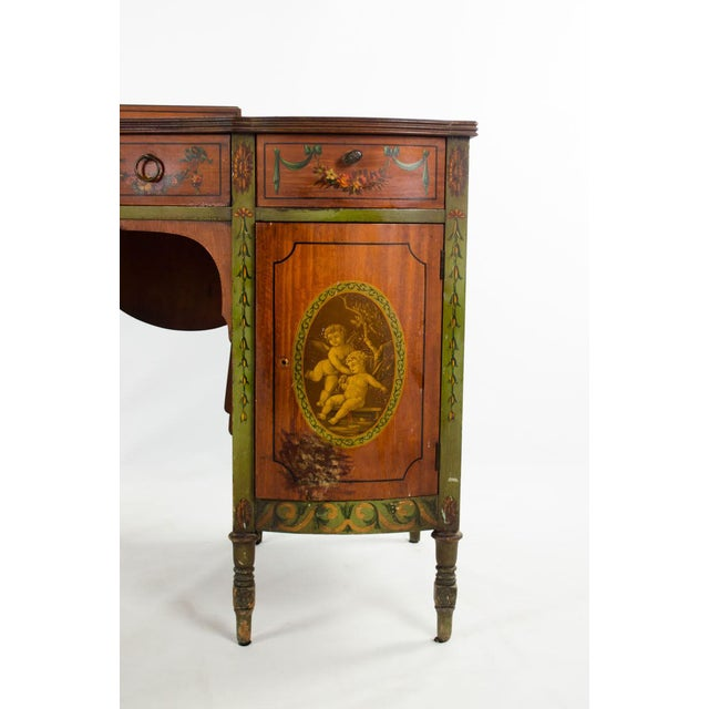 Mid 19th Century Vintage French Provincial Hand Painted Writing Desk For Sale In Atlanta - Image 6 of 13