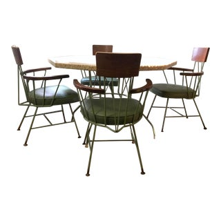 Final Markdown 1950s Mid-Century Modern Richard McCarthy Iron Dining Set - 5 Pieces For Sale