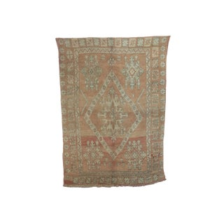 "1970's Vintage Morrocan Zemmour Rug-5'4'X7'4"" For Sale"