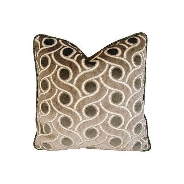 Osborne & Little Cut Velvet Pillows- A Pair - Image 2 of 7