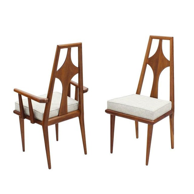 Mid-Century Modern Set of Six Swedish Dining Chairs New Upholstery For Sale - Image 3 of 10