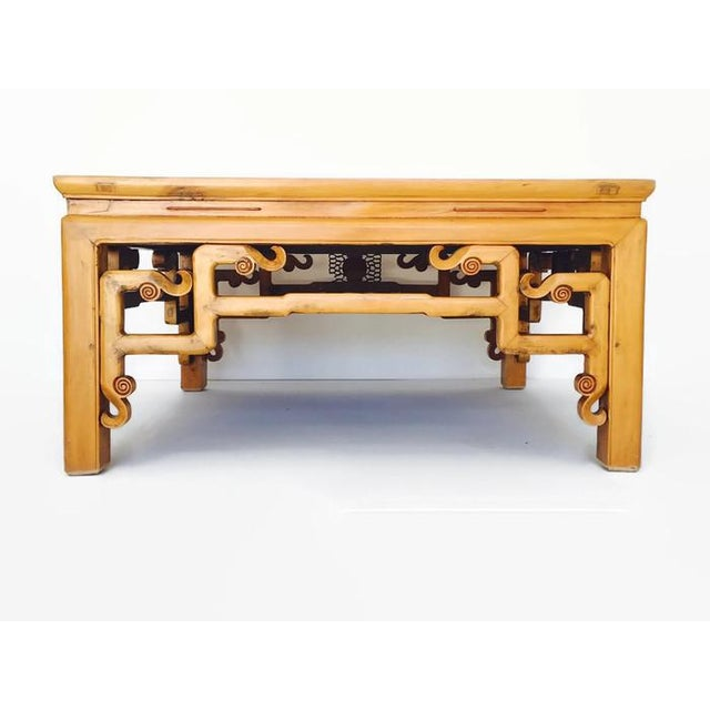 Asian Vintage Carved Chinese Tibetan Coffee Table For Sale - Image 3 of 11