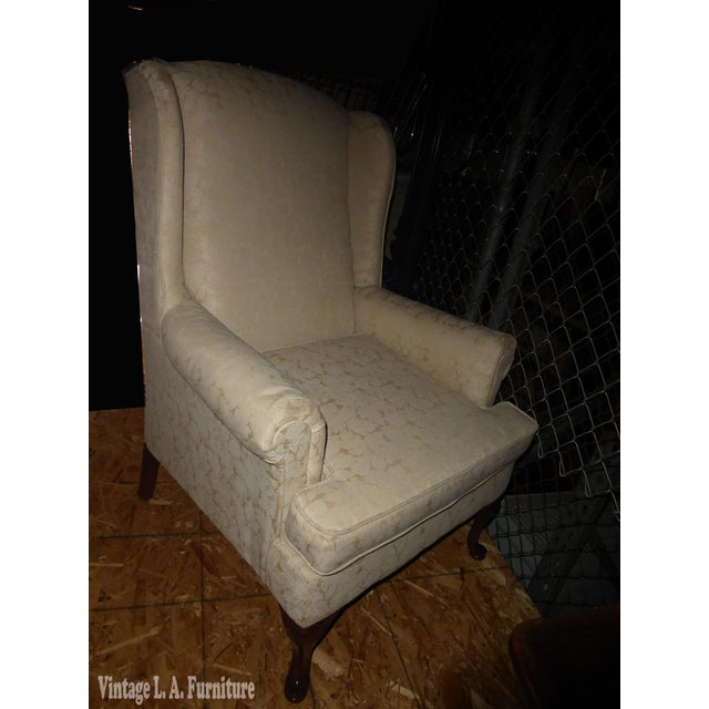 Vintage French Country Wingback Chair - Image 3 of 11