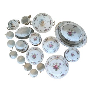 1940s Occupied Japan Spring Floral China Service - Set of 86 For Sale