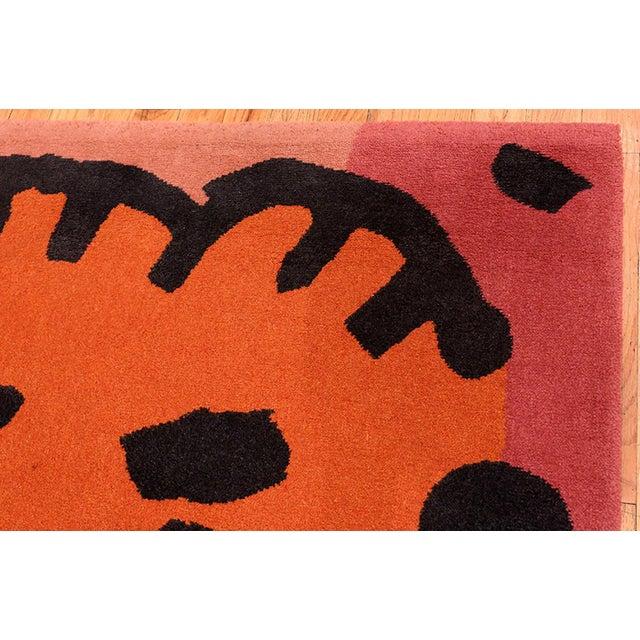 Pink Paul Klee Artist Scandinavian Rug - 4′8″ × 6′6″ For Sale - Image 8 of 13