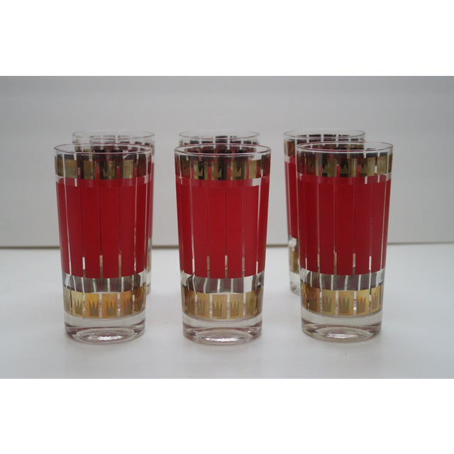 Mid-Century Fred Press Glasses - Set of 6 - Image 3 of 5