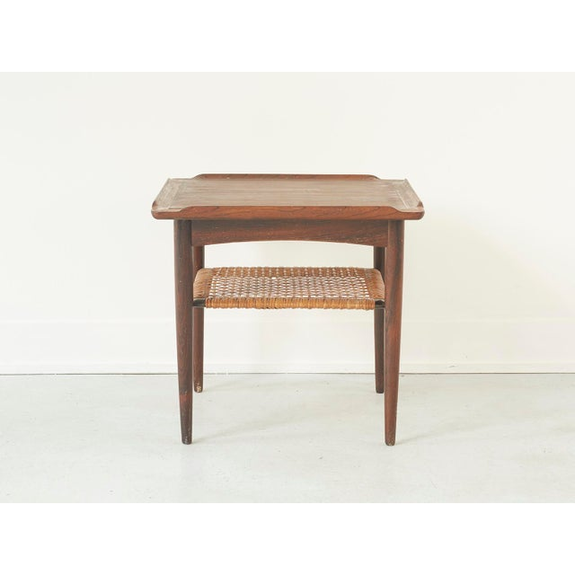 Rosewood and Cane Side Table by Poul Jensen for Selig - Image 3 of 9