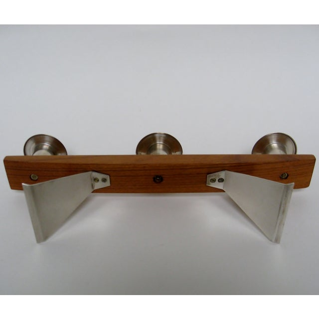 Vintage Wood & Silverplate Candleholder For Sale In Los Angeles - Image 6 of 6
