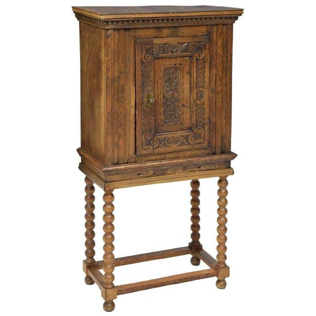 Early 18th Century 18th Century Baroque Style Carved Cabinet on Stand For Sale - Image 5 of 5