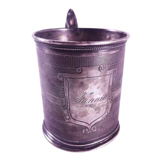 19th Century Gorham Coin Silver Mug/Cup For Sale