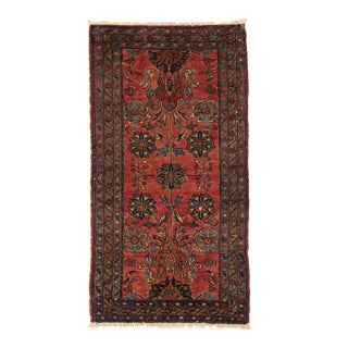 Vintage Persian Hamadan Accent Rug - 02'07 X 04'10 For Sale