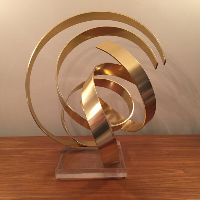 Abstract Dan Murphy Aluminum & Lucite Sculpture - Image 2 of 6
