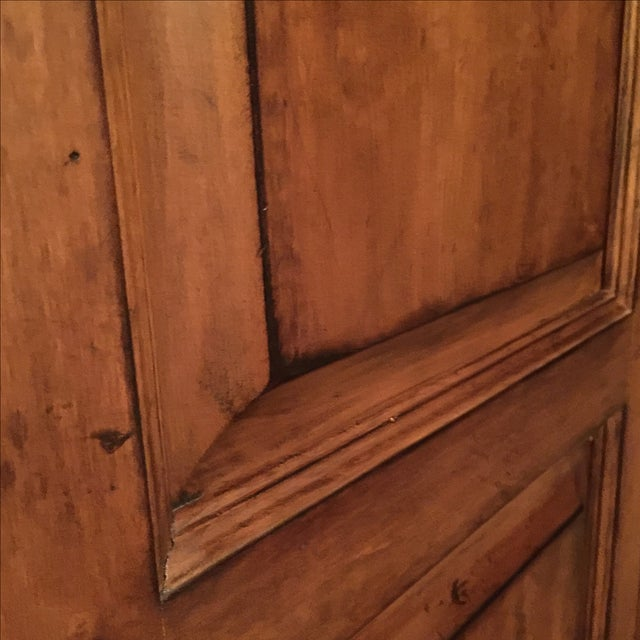 Lexington Traditional Large Cherry Wood Armoire - Image 5 of 10
