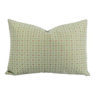 Kravet Check Out Poolside Lumbar Pillow Cover For Sale