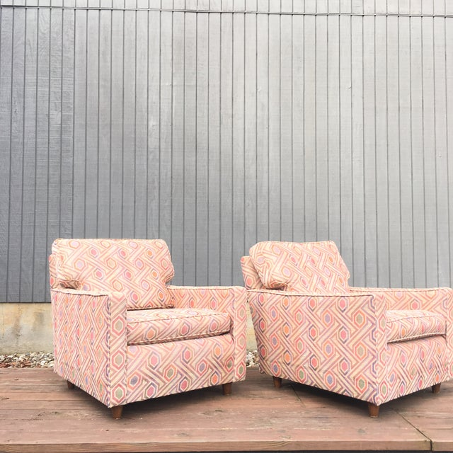 Vintage Mid Century Modern Club Lounge Chairs- A Pair For Sale In Cincinnati - Image 6 of 12