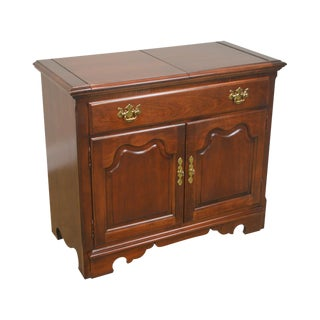 Thomasville Winston Court Cherry Chippendale Style Flip Top Server