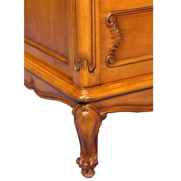 Wood French Provincial Country Walnut Armoire For Sale - Image 7 of 8