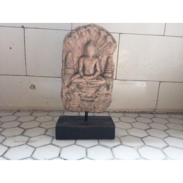 Burmese Buddha Amulet on Stand - Image 3 of 7