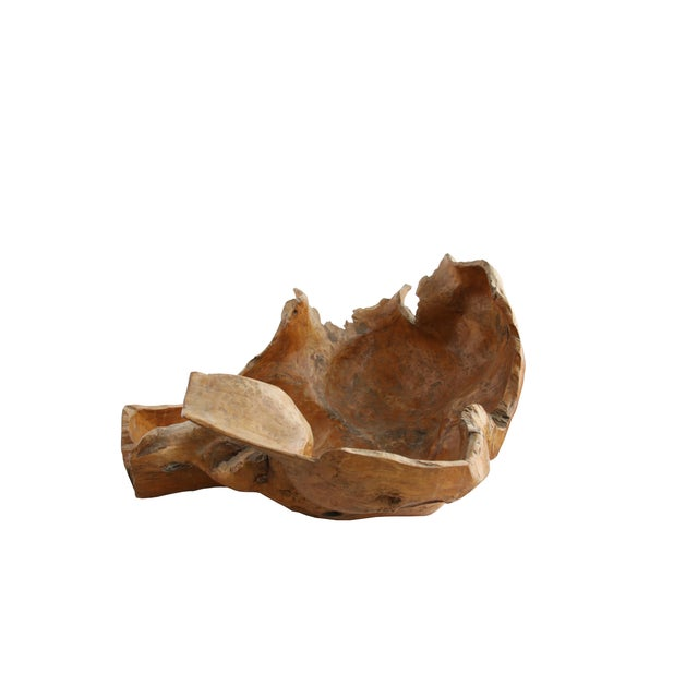 Large Vintage Burl Wood Bowl - Image 2 of 4