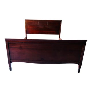 Vintage Mid-Century Mahogany Double/Full Size Bed Frame For Sale