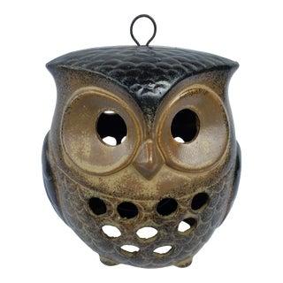 Vintage Owl Votive Holder For Sale