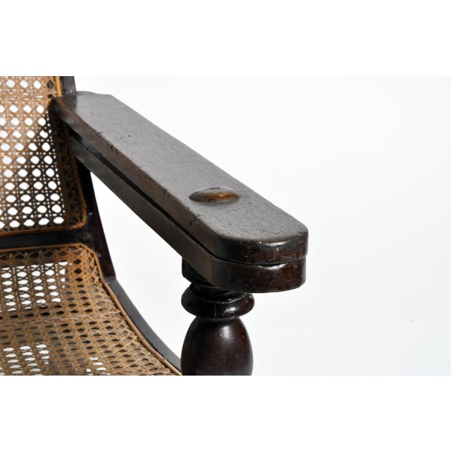 Vintage British Colonial Plantation Chair For Sale - Image 9 of 13