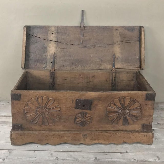 17th Century 17th Century Spanish Trunk For Sale - Image 5 of 12