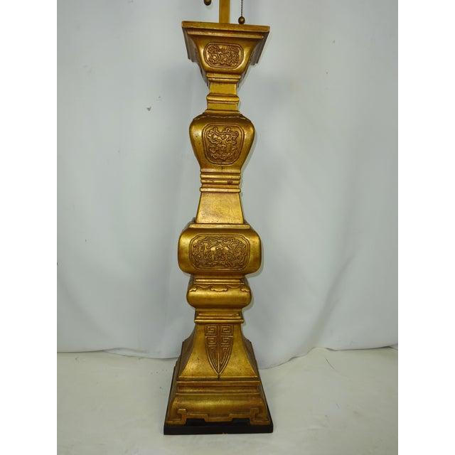Large Italian Ceramic Lamp 5-1/2 ft. 1960s - Image 4 of 8