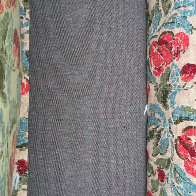 Vintage Mid-Century Modern Floral Love Seats - a Pair - Image 5 of 11