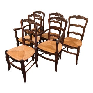 1960s French Country Dining Chairs - Set of 6