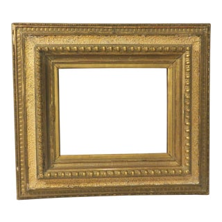 Gold Gilded Vintage 19th Century Wide Frame Old Original Finish