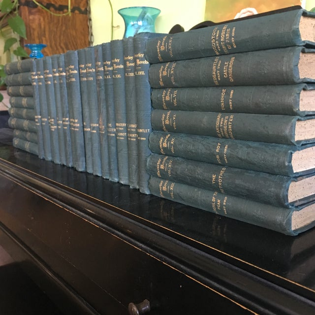 Waverly novels by sir Walter Scott, bart. Set of 30 here, but not very single volume, these start at vol 2 and end at 36,...